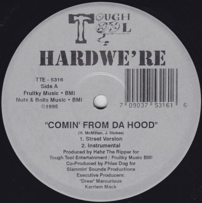 Hardwe're – Comin' From Da Hood / Intimidation (VLS) (1995) (FLAC + 320 kbps)