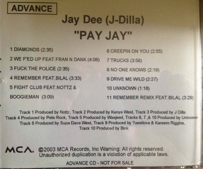 J Dilla ‎- Pay Jay (Promo CD) (2003) (320 kbps)