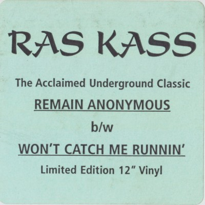 Ras Kass – Won't Catch Me Runnin' / Remain Anonymous (VLS) (1994) (FLAC + 320 kbps)