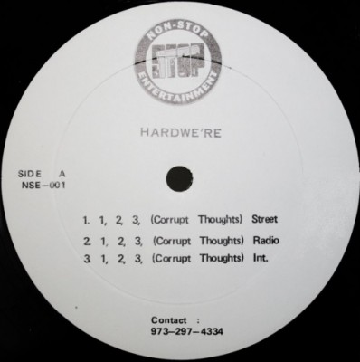 Hardwe're – 1, 2, 3, (Corrupt Thoughts) / Callen You Out (VLS) (1996) (320 kbps)