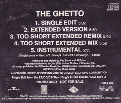 Too $hort - The Ghetto Promo (Single)