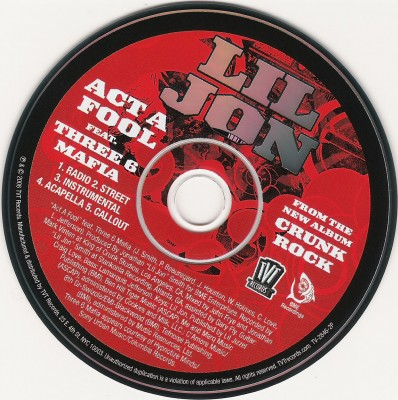 Lil Jon - Act A Fool [Promo CDS]