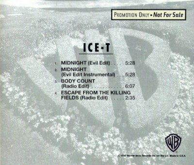 Ice-T – Midnight / Body Count / Escape From The Killing Fields (Promo CDS) (1991) (FLAC + 320 kbps)