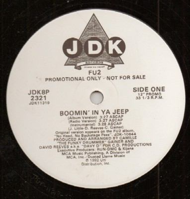Fu2 - 1992 - Boomin' in Ya Jeep