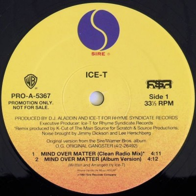Ice-T - Mind Over Matter