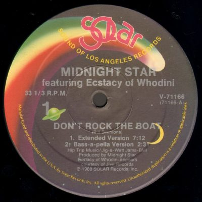 Midnight Star Featuring Ecstacy Of Whodini – Don't Rock The Boat (1988) (VLS) (FLAC + 320 kbps)