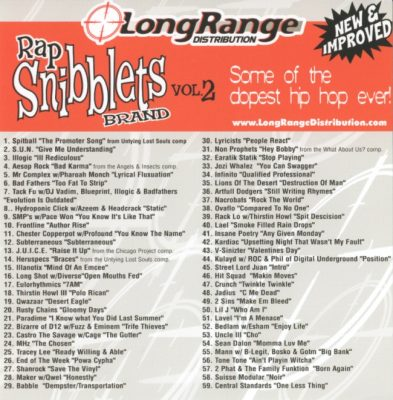 VA – Long Range Distribution: Rap Snibblets Brand Vol. 2 (CD) (2007) (FLAC + 320 kbps)