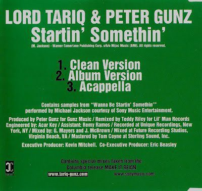 Lord Tariq & Peter Gunz – Startin' Somethin' (CDM) (1998) (FLAC + 320 kbps)