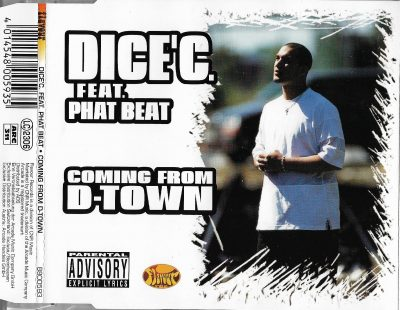 Dice'C Feat. Phat Beat – Coming From D-Town (1996) (CDM) (FLAC + 320 kbps)
