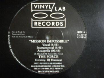 The Force / Cash Crew – Mission Impossible / Microphone Maniac (1987) (VLS) (320 kbps)