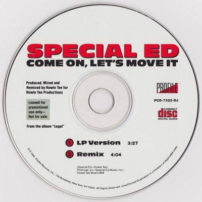 Special Ed – Come On, Let's Move It (1990) (Promo CDS) (320 kbps)