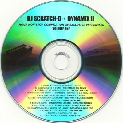 DJ Scratch-D Of Dynamix II – Volume One (2007) (CDr) (FLAC + 320 kbps)