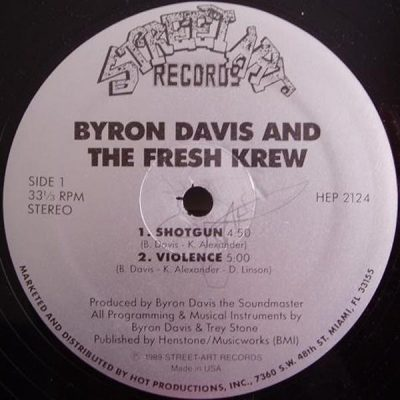 Byron Davis & The Fresh Krew – Shotgun (VLS) (1989) (FLAC + 320 kbps)