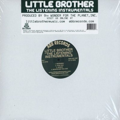 Little Brother – The Listening Instrumentals (Vinyl) (2004) (FLAC + 320 kbps)