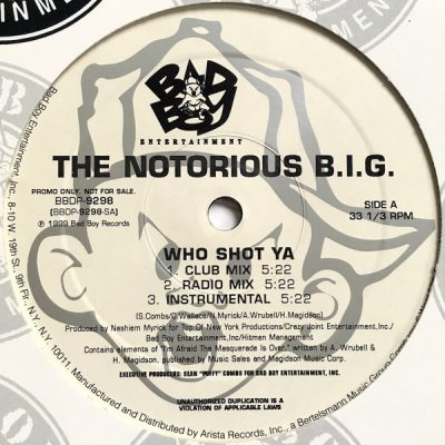 Notorious B.I.G. – Who Shot Ya / 10 Crack Commandments (VLS) (1999) (FLAC + 320 kbps)