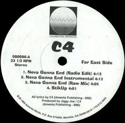 C4 – Neva Gonna End EP (Vinyl) (1996) (FLAC + 320 kbps)