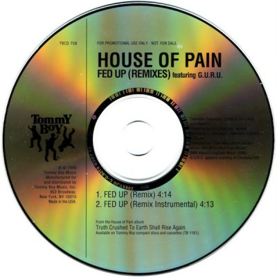 House Of Pain – Fed Up (Remixes) (1996) (Promo CDS) (FLAC + 320 kbps)