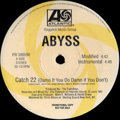 Abyss – Catch 22 (Damn If You Do Damn If You Don't) (VLS) (2001) (FLAC + 320 kbps)