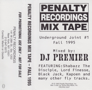 DJ Premier – Penalty Recordings Mix Tape: Underground Joint #1 Fall 1995 (Cassette) (1995) (FLAC + 320 kbps)