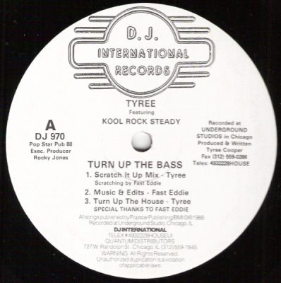 Tyree & Kool Rock Steady – Turn Up The Bass (1988) (VLS) (FLAC + 320 kbps)