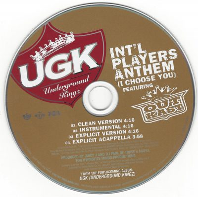 UGK – Int'l Players Anthem (CDS) (2007) (FLAC + 320 kbps)