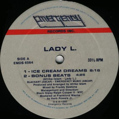 Lady L. – Ice Cream Dreams (1986) (VLS) (FLAC + 320 kbps)