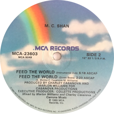 MC Shan – Feed The World (1985) (VLS) (FLAC + 320 kbps)
