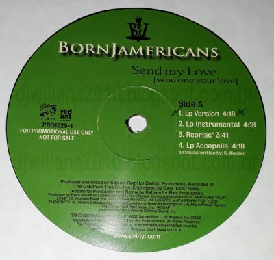 Born Jamericans – Send My Love / Gotta Get Mine (VLS) (1997) (FLAC + 320 kbps)