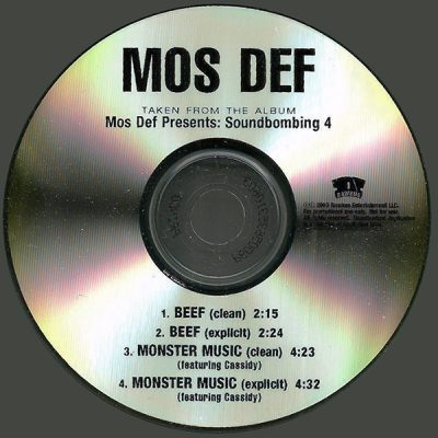 LATEST ALBUMS Mos Def – Beef / Monster Music (Promo CDS) (2003) (FLAC