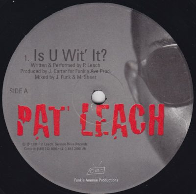 Pat Leach – Is U Wit' It / Blue Prints (VLS) (1998) (FLAC + 320 kbps)