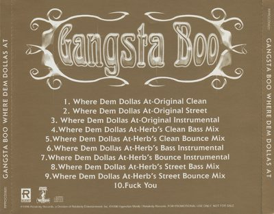 Gangsta Boo – Where Dem Dollas At (Promo CDS) (1998) (FLAC + 320 kbps)
