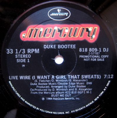 Duke Bootee – Live Wire (I Want A Girl That Sweats) (VLS) (1984) (FLAC + 320 kbps)