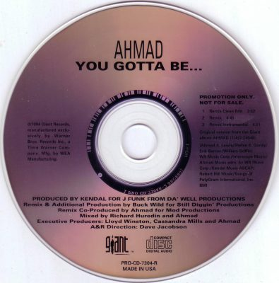Ahmad – You Gotta Be… (Remix) (Promo CDS) (1994) (320 kbps)