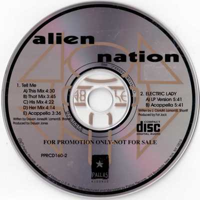 Alien Nation – Tell Me / Electric Lady (Promo CDS) (1994) (FLAC + 320 kbps)