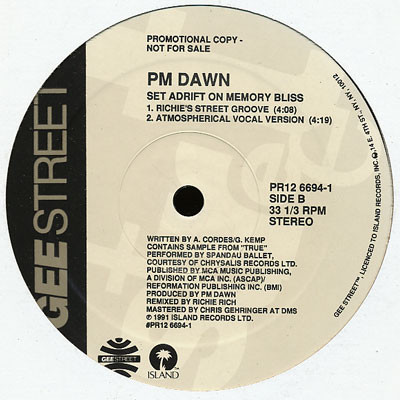 P.M. Dawn – A Watcher's Point Of View (Don't 'Cha Think) / Set Adrift On Memory Bliss (Promo VLS) (1991) (FLAC + 320 kbps)