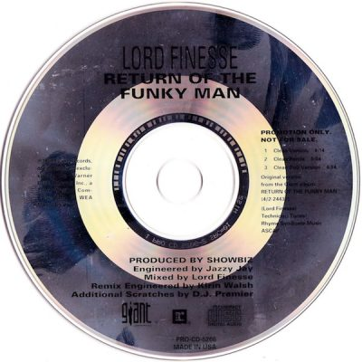 Lord Finesse – Return Of The Funky Man (Promo CDS) (1992) (320 kbps)