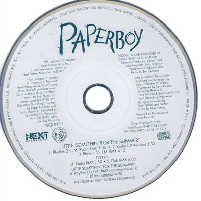 Paperboy – Little Somethin' For The Summer (Promo CDS) (1993) (320 kbps)