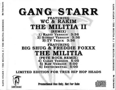 Gang Starr – The Militia II (Remix) (Promo CDS) (1998) (320 kbps)