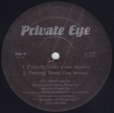 Private Eye – Friendly Skies (VLS) (1996) (FLAC + 320 kbps)