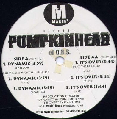 Pumpkinhead – Dynamic / It's Over (VLS) (1997) (FLAC + 320 kbps)