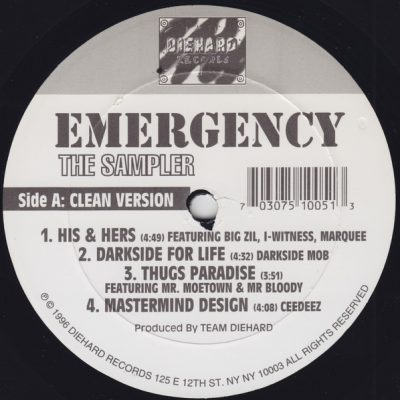 VA – Emergency: The Sampler (Vinyl) (1996) (FLAC + 320 kbps)
