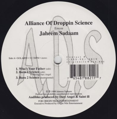 Jaheem Sadaam – Alliance Of Droppin Science EP (Vinyl) (1998) (FLAC + 320 kbps)