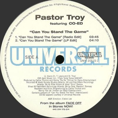Pastor Troy – Can You Stand The Game (VLS) (2001) (FLAC + 320 kbps)