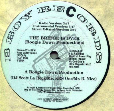 Boogie Down Productions – The Bridge Is Over / Words From Our Sponsor (VLS) (1987) (FLAC + 320 kbps)