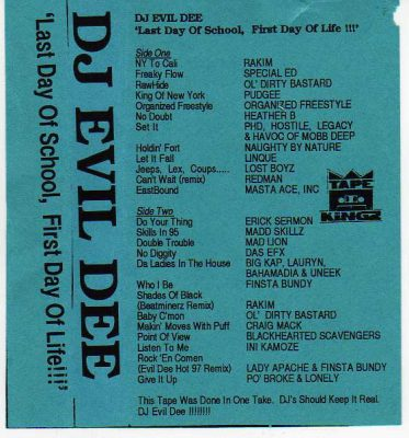 DJ Evil Dee – Last Day Of School, First Day Of Life!!! (Cassette) (1995) (FLAC + 320 kbps)