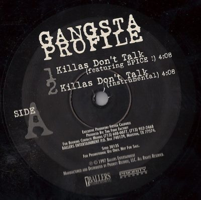Gangsta Profile – Killas Don't Talk (VLS) (1997) (FLAC + 320 kbps)