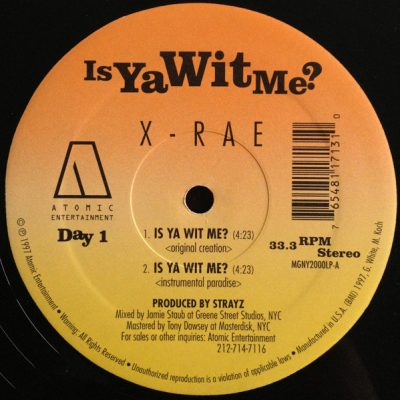 X-Rae – Is Ya Wit Me? / One Time 2 Slip (VLS) (1997) (FLAC + 320 kbps)