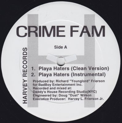 Crime Fam – Playa Haters / Scotch On The Rocks (VLS) (1996) (FLAC + 320 kbps)