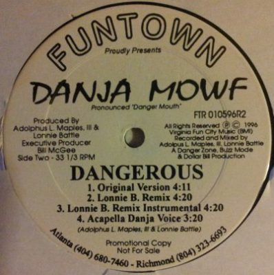 Danja Mowf – Question / Dangerous (VLS) (1997) (FLAC + 320 kbps)