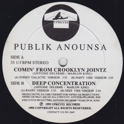 Publik Anounsa – Comin' From Crooklyn Jointz / Deep Concentration (VLS) (1995) (FLAC + 320 kbps)